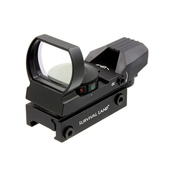 Survival Land Airsoft Gun Sight 1 Survival Land Z-12 Advanced Targeting Reflex Sight with 4 Selectable Illuminated Red or Green Target Reticle - Great for Hunting