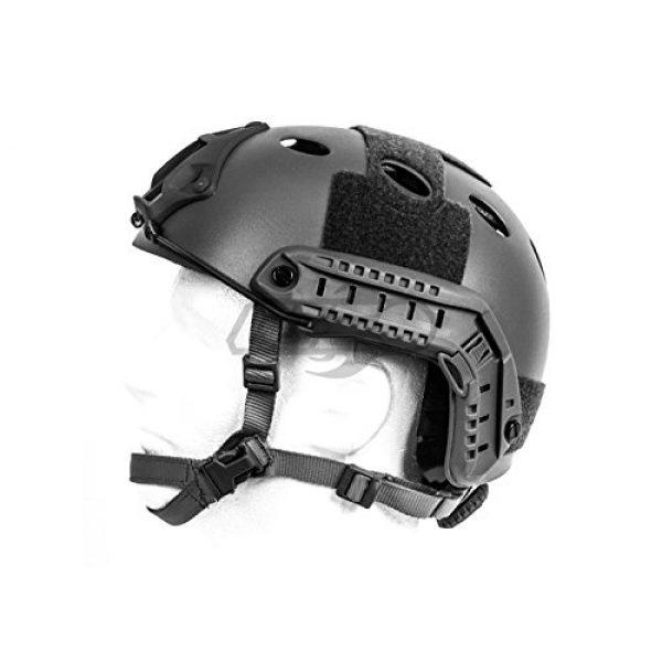 Lancer Tactical Airsoft Helmet 3 Lancer Tactical Airsoft Tactical PJ Type Helmet LRG/XL - Black