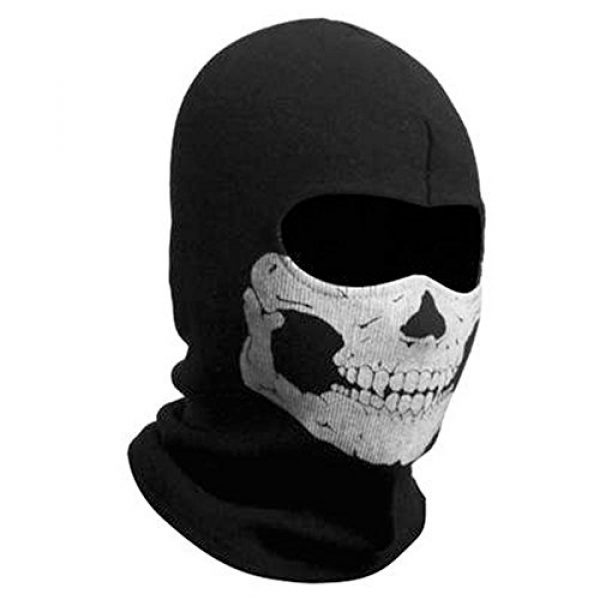 Zzoo Airsoft Mask 1 ZZoo Cotton Ghost Mask Skull Heads Warm Scarf Outdoor Cycling Dust Mask Halloween Cosplay Costume (Black)