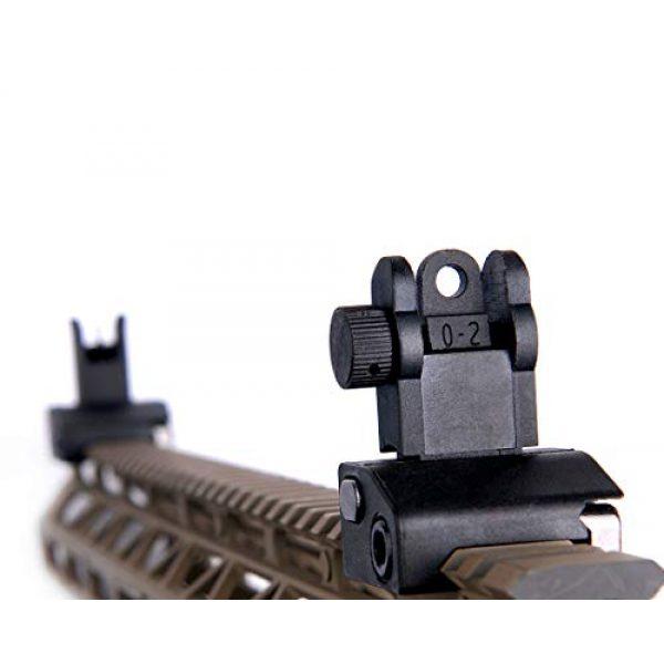 Fidragon Airsoft Gun Sight 4 Fidragon Ultralight Flip Up Backup Battle Sight Offset Rapid Transition Front and Backup Rear Sight for Picatinny Mount