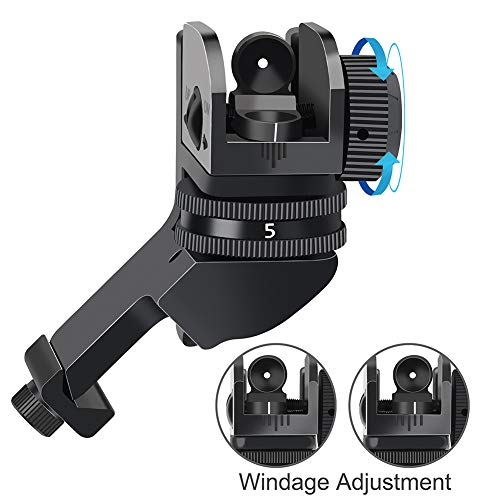Feyachi Airsoft Gun Sight 3 Feyachi 45 Degree Front and Rear Backup Iron Sights - Rapid Transition Picatinny Rail Mounted