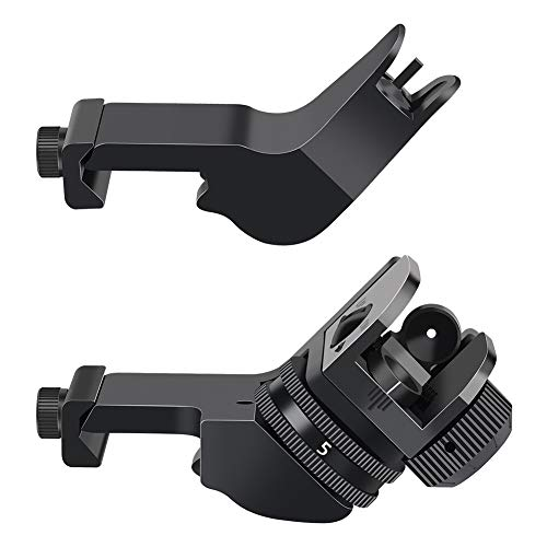 Feyachi Airsoft Gun Sight 1 Feyachi 45 Degree Front and Rear Backup Iron Sights - Rapid Transition Picatinny Rail Mounted