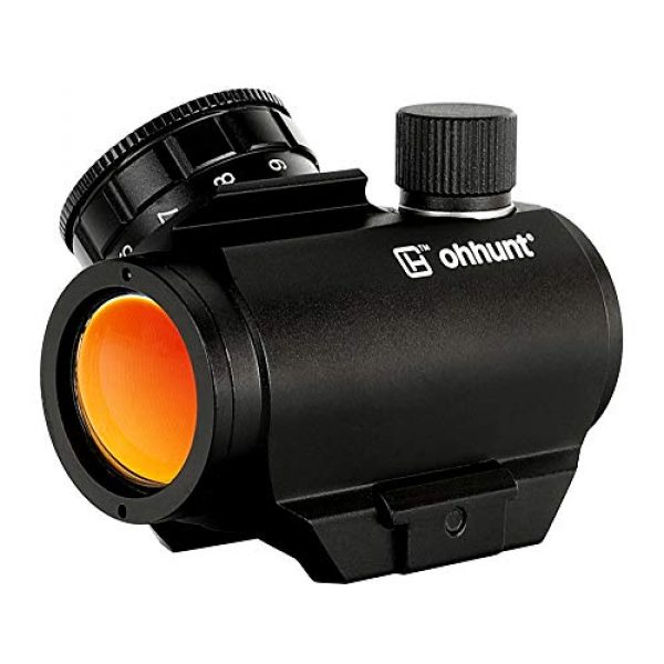 ohhunt Airsoft Gun Sight 1 ohhunt 1X25mm 3 MOA Red Dot Sight Low Power Compact Red Dot Scope 20mm Weaver Picatinny Mount