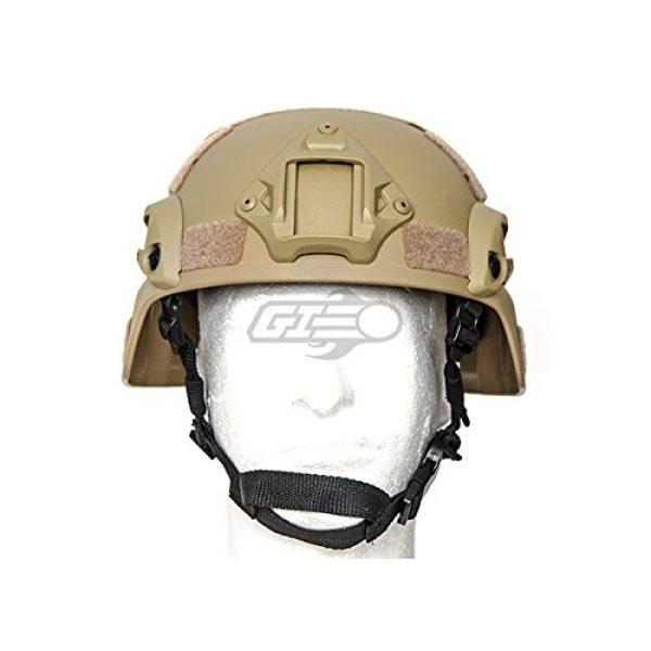 Lancer Tactical Airsoft Helmet 2 Lancer Tactical MICH 2000 SF Helmet (Tan)