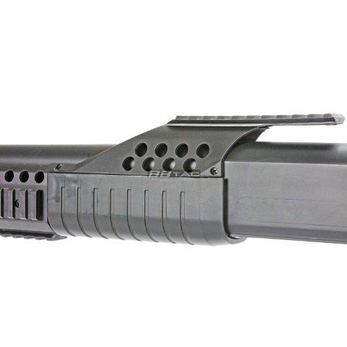 BBTac  6 BBTac BT-BT180D1 Pump Action RIS Airsoft Shotgun with 4 Bullet Shells and Stock Shell Holder