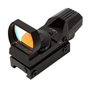 SabreTAC Airsoft Gun Sight 1 SabreTAC 4 Reticles Reflex Red Green Dot Sight 33mm Built in Picatinny Rail Mount for Airsoft