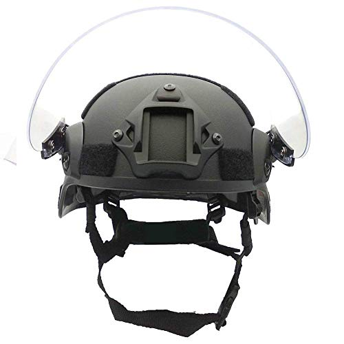 Tactical Area Airsoft Helmet 3 Tactical Area Airsoft Mich 2000 Quick Helmet with NVG Bracket and Goggles.