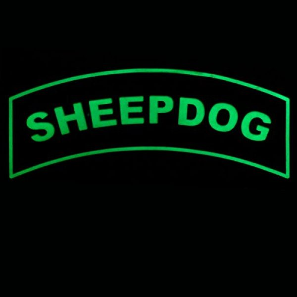 LEGEEON Airsoft Patch 3 LEGEEON Glow Dark Sheepdog Tab Thin Blue Line Law Enforcement PVC Rubber Hook&Loop Patch