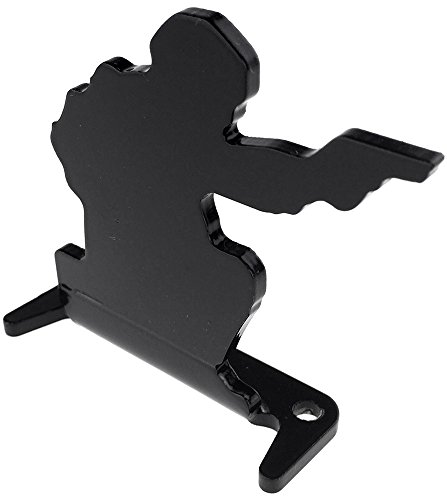 SportPro Airsoft Target 4 SportPro Full Steel Soldier Shooting Targets Type A 6 pcs for AEG GBB Airsoft Black