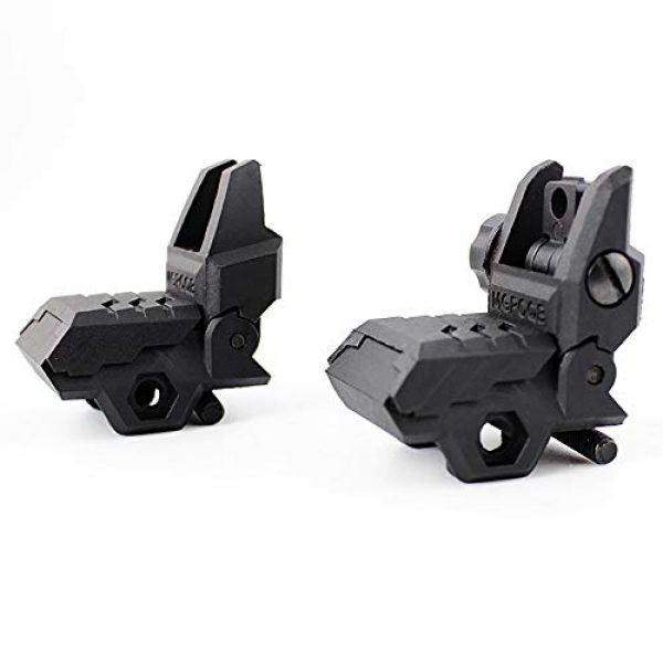 ZLIXING Airsoft Gun Sight 5 ZLIXING Foldable Front and Rear Sights Low Profile Flip up Sights Tactical Pop up Backup Sights for Picatinny Rail