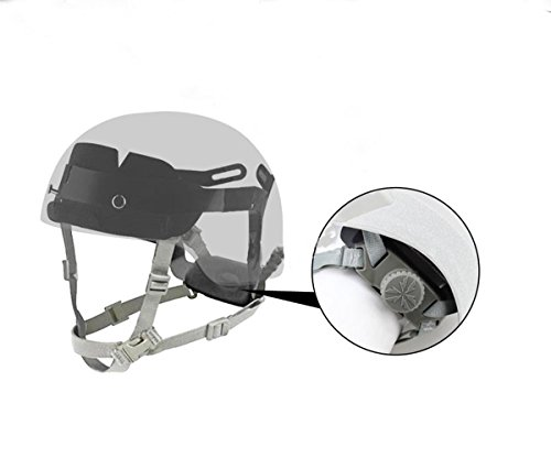 Jadedragon Airsoft Helmet 2 Jadedragon Fast Airsoft Helmet Standard Replacement Accessory Tactical Helmet Head Locking Buckle System Adjust Chin Strap with 4 Pieces Bolts/Screws for MH PJ BJ and Modified Tactical Helmet