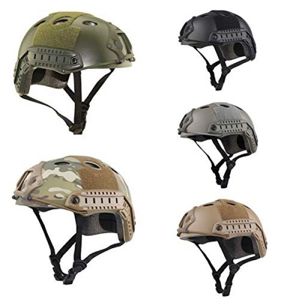 ATAIRSOFT Airsoft Helmet 7 ATAIRSOFT PJ Type Tactical Paintball Airsoft Fast Helmet