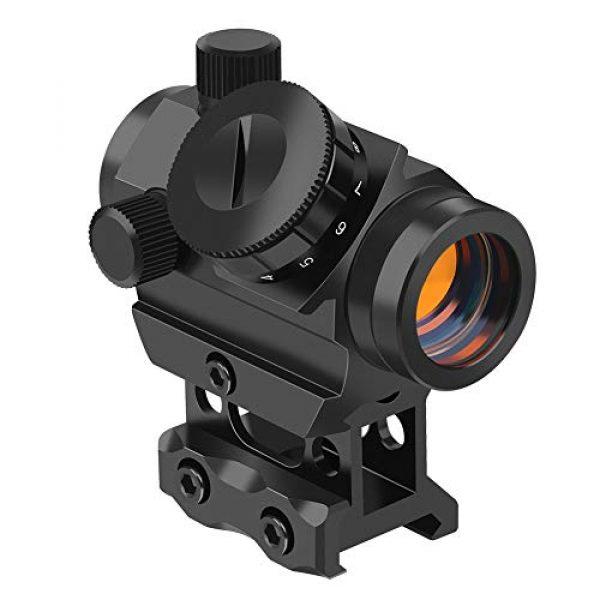 Feyachi Airsoft Gun Sight 1 Feyachi RDS-25 Red Dot Sight 4 MOA Micro Red Dot Gun Sight Rifle Scope with 1 inch Riser Mount