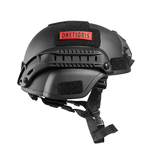 OneTigris Airsoft Helmet 2 OneTigris MICH 2000 Style ACH Tactical Helmet with NVG Mount and Side Rail