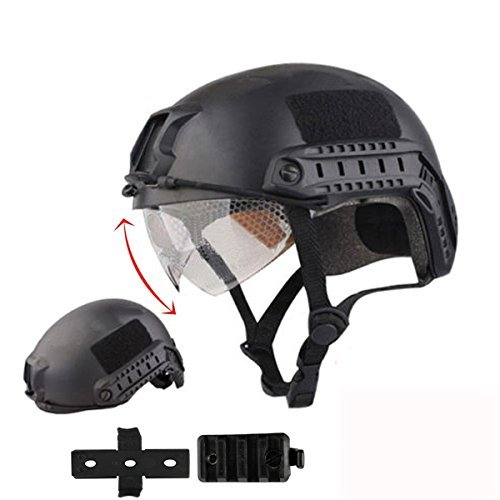 iMeshbean Airsoft Helmet 1 iMeshbean Airsoft Swat Helmet Combat Fast Helmet with Wing-Loc Adapter