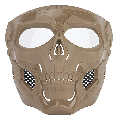 Full Face Masks Skull Skeleton with Goggles Impact Resistant Army Fans Supplies Tactical Mask for Halloween Paintball Game Movie Props Party and Other Outdoor Activities