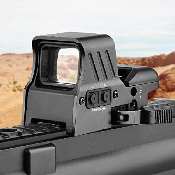 MidTen Airsoft Gun Sight 2 MidTen 1X22X32 Red Green Dot Sight 4 Reticles Reflex Sight Quick Detach Mount 20mm Rail