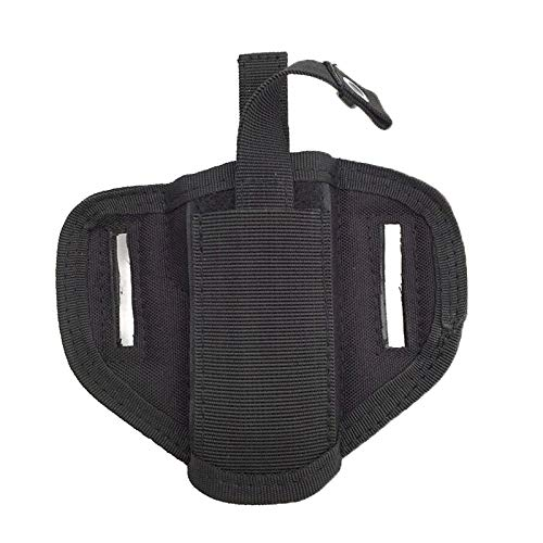 FIRECLUB  5 FIRECLUB Tactical Molle 6 Position Ambidextrous Concealment Holster for Compact Subcompact Waist Handguns Concealed Belt Holster for Right Left Hand Draw Black