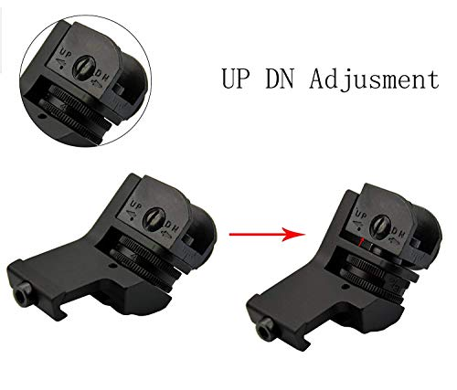 GOTICAL Airsoft Gun Sight 2 GOTICAL 45 Degree Front and Rear Rapid Transition Backup Sights - Picatinny Rail 20mm - Made by PPS Material for Pistol Handgun