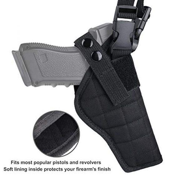 TW TWOD  3 Twod Concealed Carry Shoulder Holster Nylon Cross Harness Vertical Shoulder Holster Adjustable for Most Handguns or Pistol