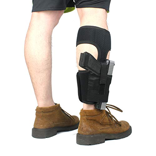 ProudCarry  3 ProudCarry Ultimate Ankle Calf Holster with Calf Strap and Spare Magazine Pouch for Concealed Carry Black
