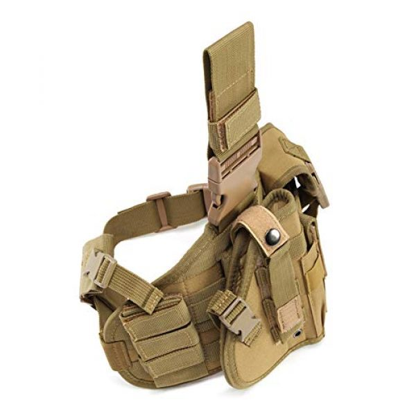 ESA Supplies  2 ESA Supplies Molle Airsoft Holster with Magzine Pouch Drop Leg Holsters Tactical Thigh Holsters for Glorck G17 G18 G19 G26 G34 M1911