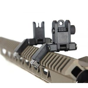 IORMAN Airsoft Gun Sight 1 IORMAN Ultralight Flip Up Sight 45 Degree Offset Rapid Transition Front and Backup Rear Sight
