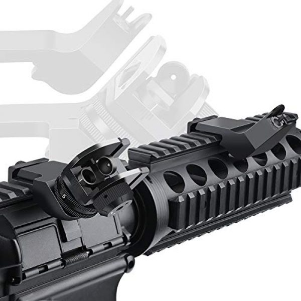 Feyachi Airsoft Gun Sight 5 Feyachi 45 Degree Front and Rear Backup Iron Sights - Rapid Transition Picatinny Rail Mounted