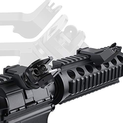 Feyachi Airsoft Gun Sight 5 Feyachi 45 Degree Front and Rear Backup Iron Sights - Rapid Transition Picatinny Rail Mounted