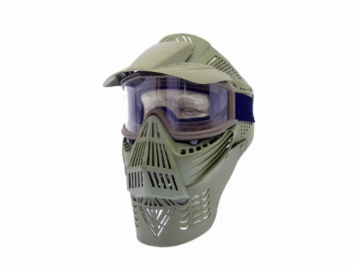 PForce Airsoft Mask 1 PForce Paintball & Airsoft Full Face Safety Mask with Clear Lens Goggles for Eye Protection Top Visor Tactical Gear