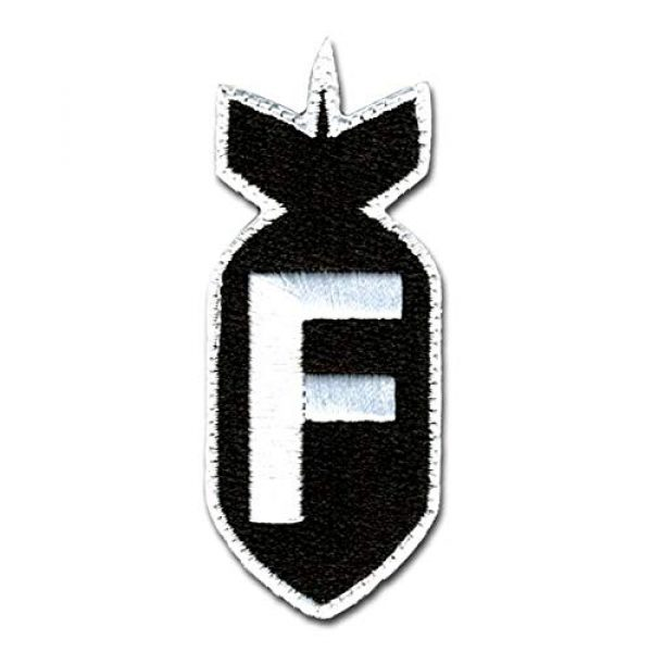 BASTION Airsoft Patch 1 BASTION Morale Patches (F Bomb, BNW)   3D Embroidered Patches with Hook & Loop Fastener Backing   Well-Made Clean Stitching   Military Patches Ideal for Tactical Bag, Hats & Vest