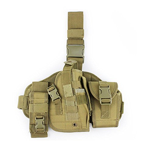 A&N  1 A&N Airsoft Pistol Holster Adjustable Tactical Molle Leg Holster Hunting Shooting Holder. (tan)