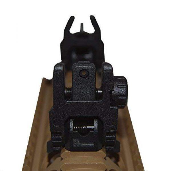 HWZ Airsoft Gun Sight 3 HWZ Tactical Folding Front & Rear Set Flip Up Backup Sights BUIS Black