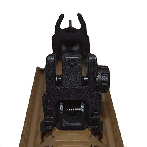 HWZ Airsoft Gun Sight 3 HWZ Tactical Folding Front & Rear Set Flip Up Backup Sights BUIS Black