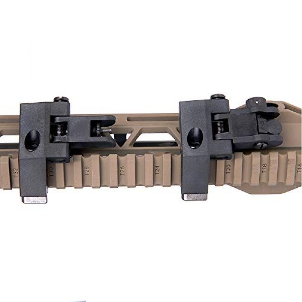 IORMAN Airsoft Gun Sight 4 IORMAN Ultralight Flip Up Sight 45 Degree Offset Rapid Transition Front and Backup Rear Sight