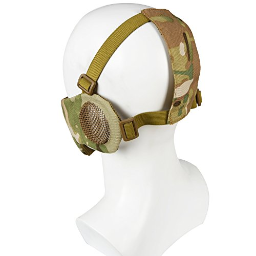 Aoutacc Airsoft Mask 2 Foldable Airsoft Mesh Mask