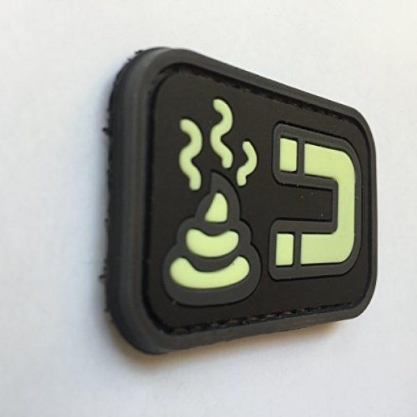 uuKen Airsoft Patch 2 uuKen Tactical Airsoft Poop Magnet Shit Magnet PVC Rubber Patch Funny by Tactical Gear