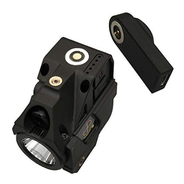 Compact Green Laser Dot Sight Scope Adjustable Low Profile Picatinny Rail Mount Laser Sight with Rechargeable Battery Pistols & Handguns Less Than 5mw