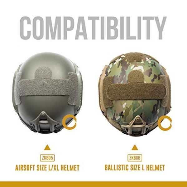 OneTigris Airsoft Helmet 3 OneTigris Multicam Helmet Cover - No Helmet (ZKB06 for Ballistic Fast Helmet in Size L & Fast PJ Helmet in Size L/XL - Multicam)