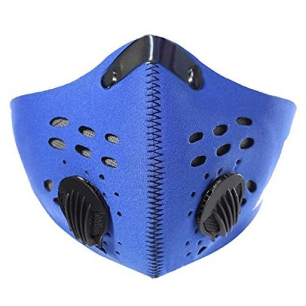 ZLM BAG US Airsoft Mask 5 ZLM BAG US Unisex Dustproof Breathable Valve Velcro Mouth Cover Half Face Mask for Outdoors Cycling Travel