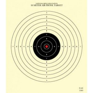 CHLTargets.com Airsoft Target 1 Official NRA Targets B-40/1