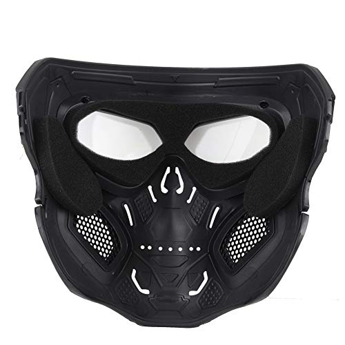 ATAIRSOFT Airsoft Mask 4 ATAIRSOFT Tactical Protective Adjustable Skull Full Face Mask for Airsoft Paintball Cosplay Costume Party Hockey
