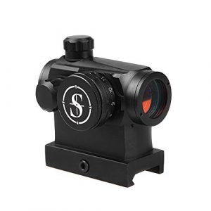 Sniper Airsoft Gun Sight 1 Sniper RD20H Reflex Red Dot Sight Scope 3 MOA with High Profile Rail Mount Fit Picatinny Rail