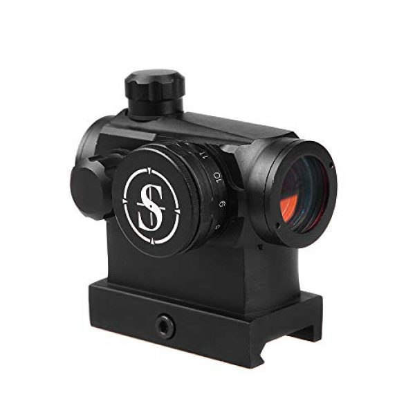 Sniper Airsoft Gun Sight 1 Sniper RD20H Reflex Red Dot Sight Scope 3 MOA with High Profile Rail Mount Fit Picatinny Rail