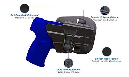TYWPUID Tactical OWB Paddle Holster Fit Taurus Millennium G2 G2C PT111 PT132 PT138 PT140 PT145 PT745(Not Pro)