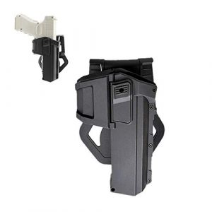 Higoo  1 Higoo Tactical Movable Pistol Holsters for Glock with Flashlight or Laser Mount