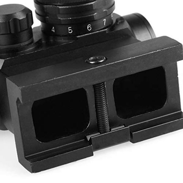Sniper Airsoft Gun Sight 7 Sniper RD20H Reflex Red Dot Sight Scope 3 MOA with High Profile Rail Mount Fit Picatinny Rail