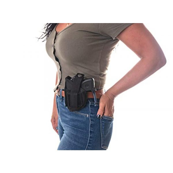 "Wyoming Holster  5 Gun Holster Shoulder/Hip FITS Ruger Security-9 9MM Luger 4"" Barrel MOSSBERG MC 2 S&W SW9VE 5900 Glock 17 19 22 23 30 31 32 G44 FN509 FXN 9MM Walther CCP M2 PK 380 PPQ SC 9MM 5"