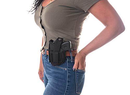 "Wyoming Holster  5 Gun Holster Shoulder/Hip FITS Ruger Security-9 9MM Luger 4"" Barrel MOSSBERG MC 2 S&W SW9VE 5900 Glock 17 19 22 23 30 31 32 G44 FN509 FXN 9MM Walther CCP M2 PK 380 PPQ SC 9MM 5"
