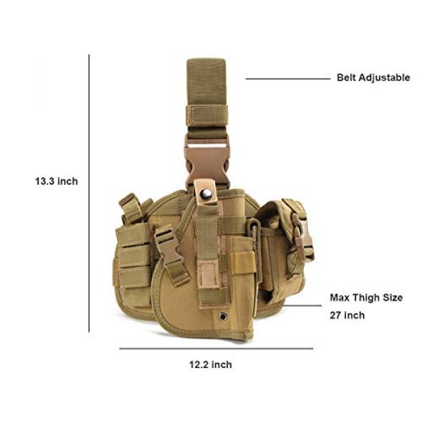 ESA Supplies  6 ESA Supplies Molle Airsoft Holster with Magzine Pouch Drop Leg Holsters Tactical Thigh Holsters for Glorck G17 G18 G19 G26 G34 M1911